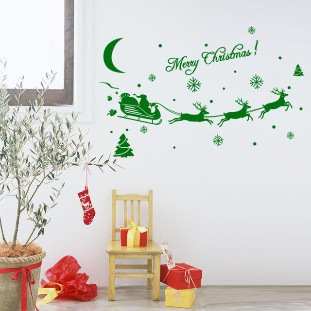 Santa Claus Sleigh Window Decoration Stickers - InStyle Walls LLC