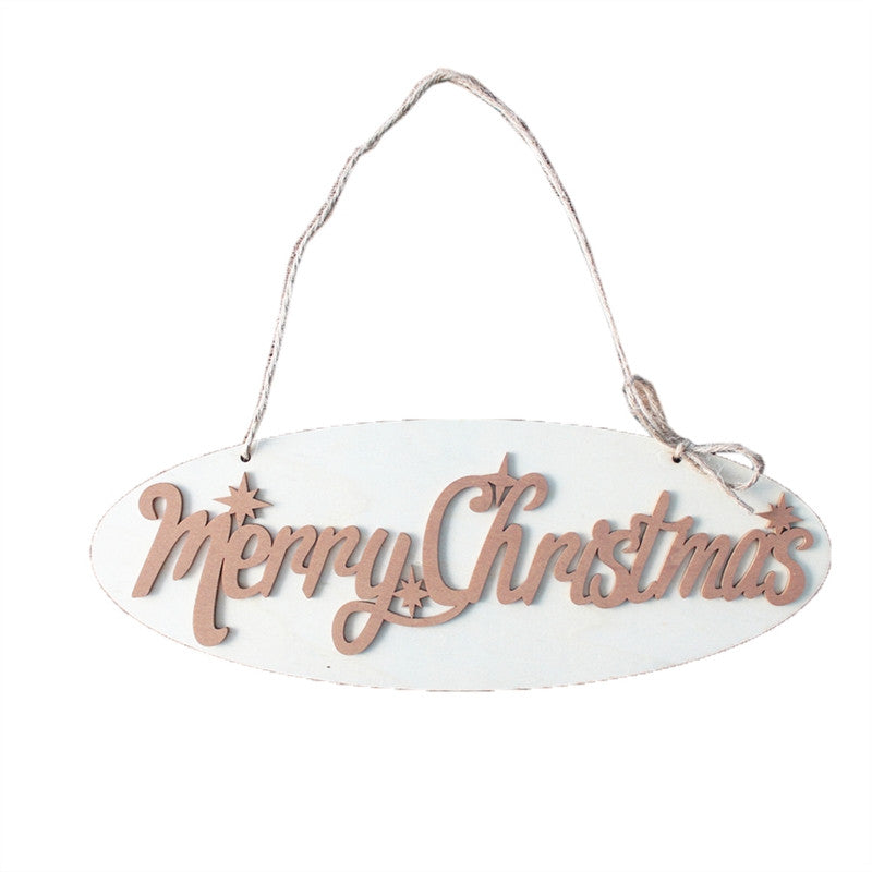 Merry Christmas Wooden Wall Plaque Letter Ornament - InStyle Walls LLC