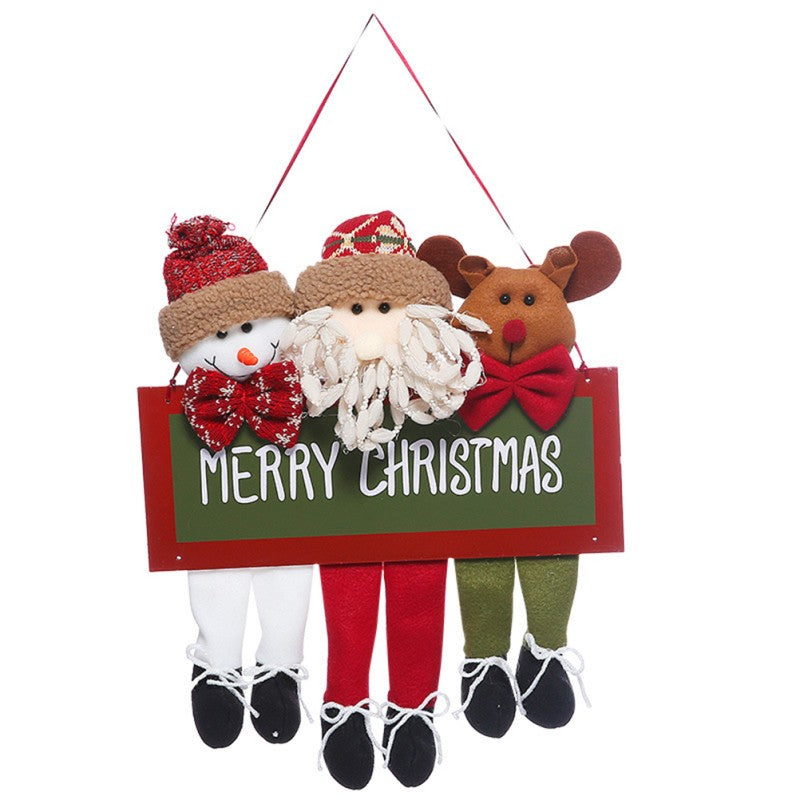 Wall Christmas Sign Door Ornament - InStyle Walls LLC