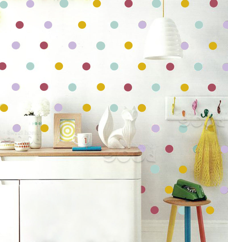Mixed Colors Polka Dots Wall Stickers - InStyle Walls LLC