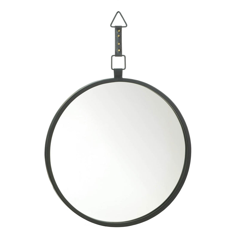 Round Mirror With Leather Strap - InStyle Walls LLC