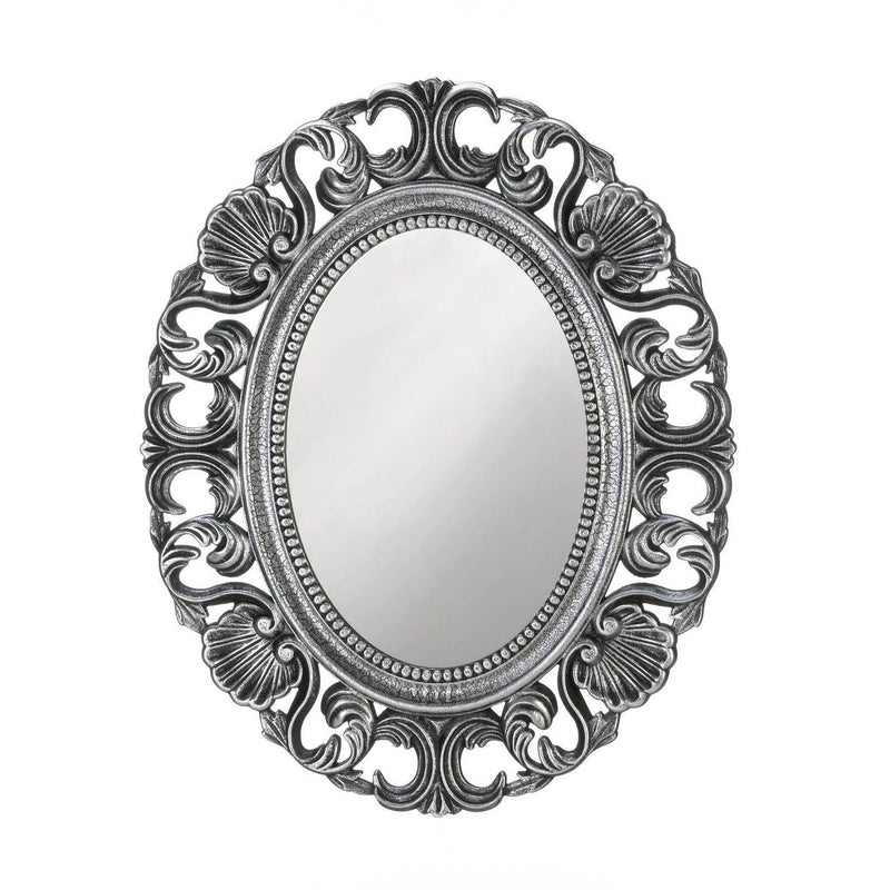 Silver Scallop Wall Mirror - InStyle Walls LLC