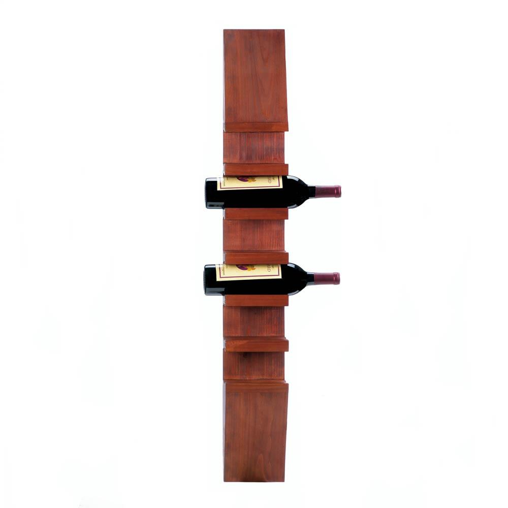 Sleek Wooden Wine Wall Rack - InStyle Walls LLC
