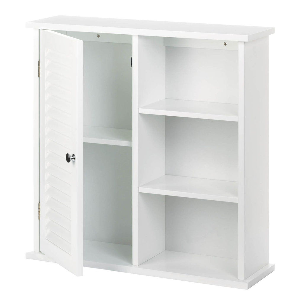 White Wall Cabinet With Shelves - InStyle Walls LLC