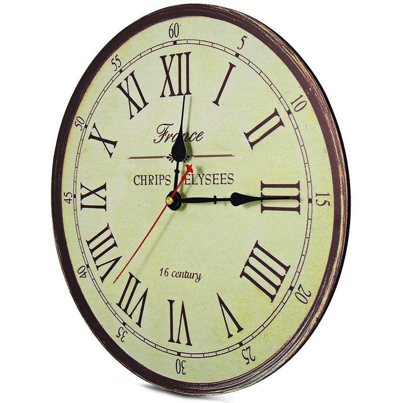 European Vintage Style Wall Clock - InStyle Walls LLC