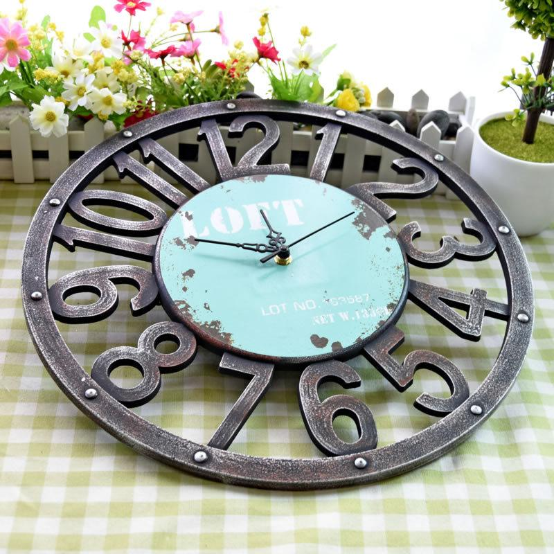 Fashion Retro Rustic Decor Wall Clock - InStyle Walls LLC