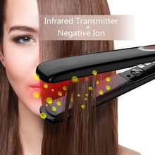 Load image into Gallery viewer, Steam Iron Black Hair Straightener