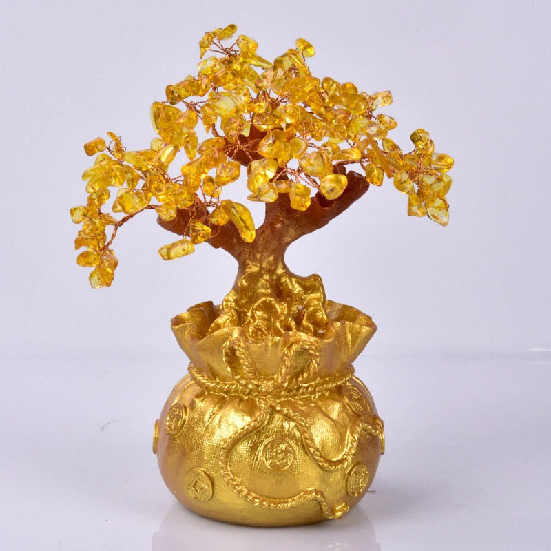 Citrine Money Tree - Attract Wealth & Luck