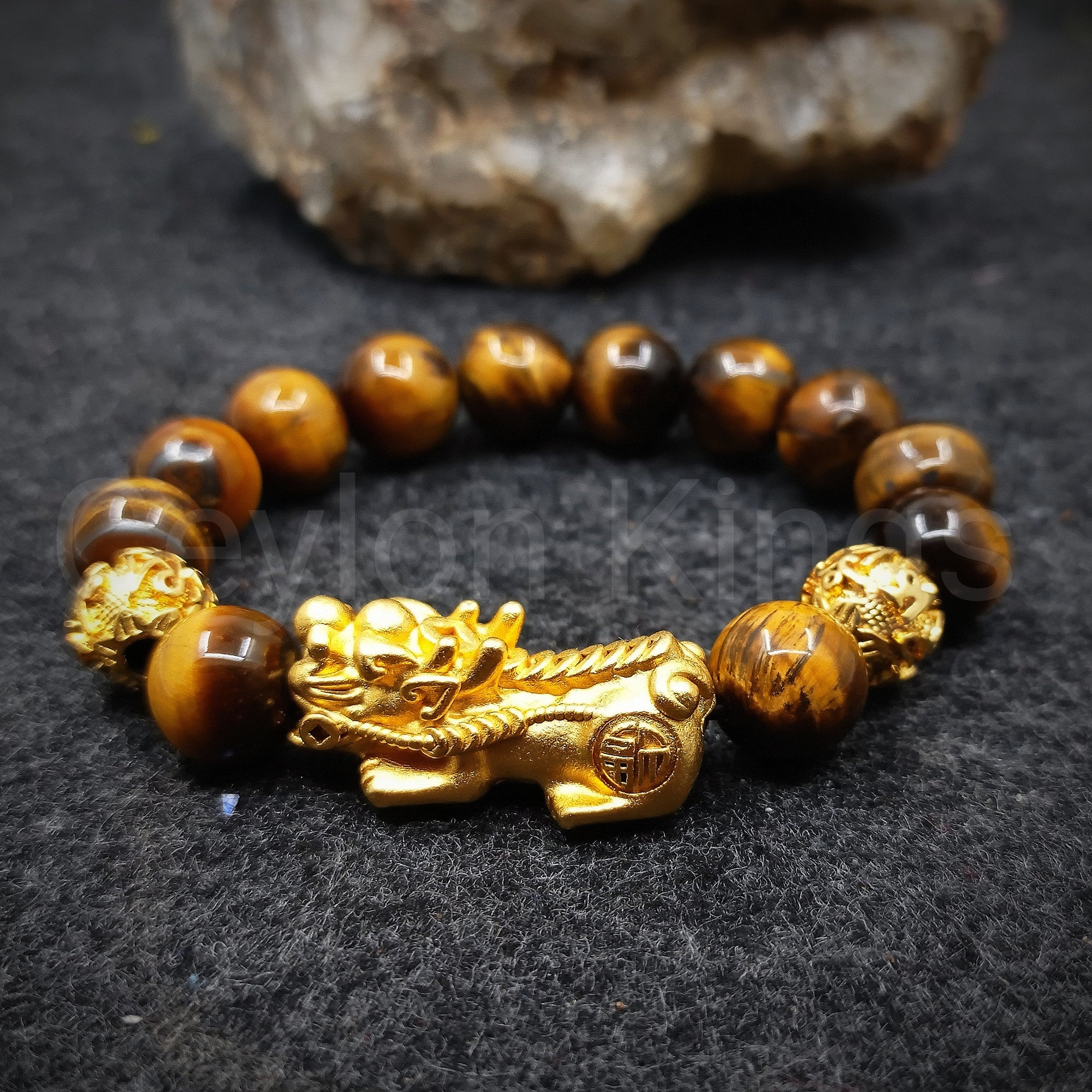 Feng Shui Yellow Tiger Eye Wealth Bracelet