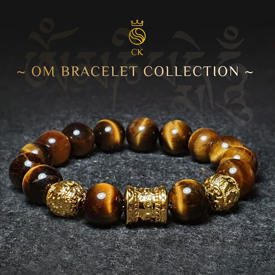 OM Brown Tiger Eye Bracelet