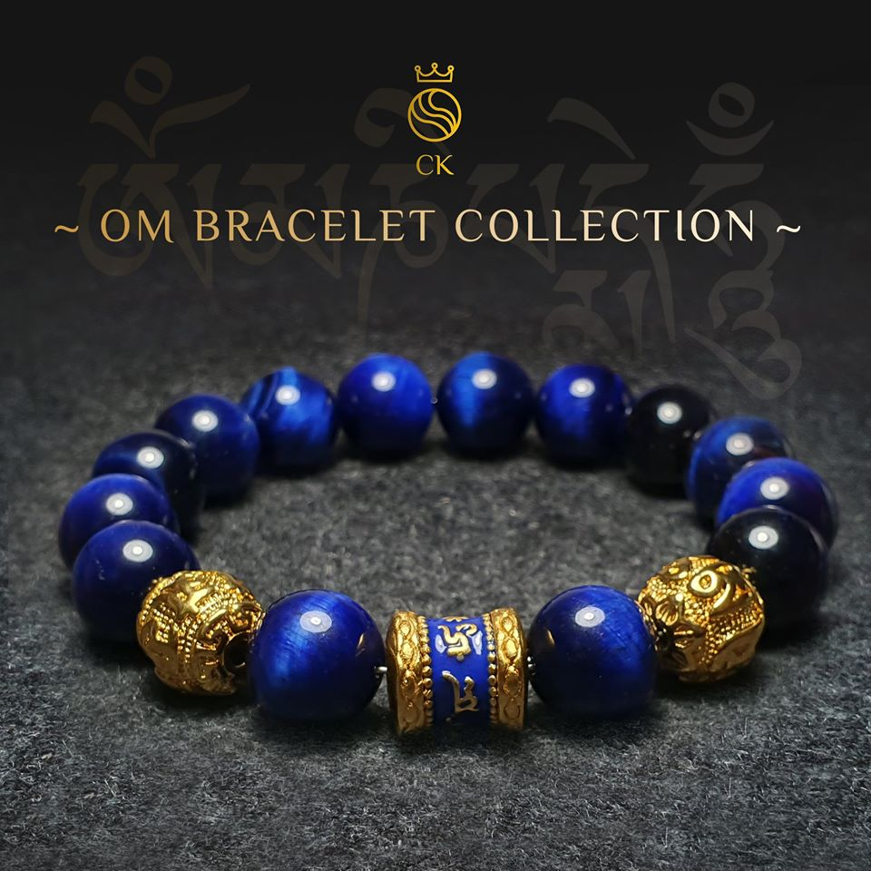 OM Blue Tiger Eye Bracelet