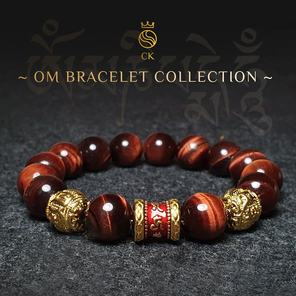 OM Red Tiger Eye Bracelet