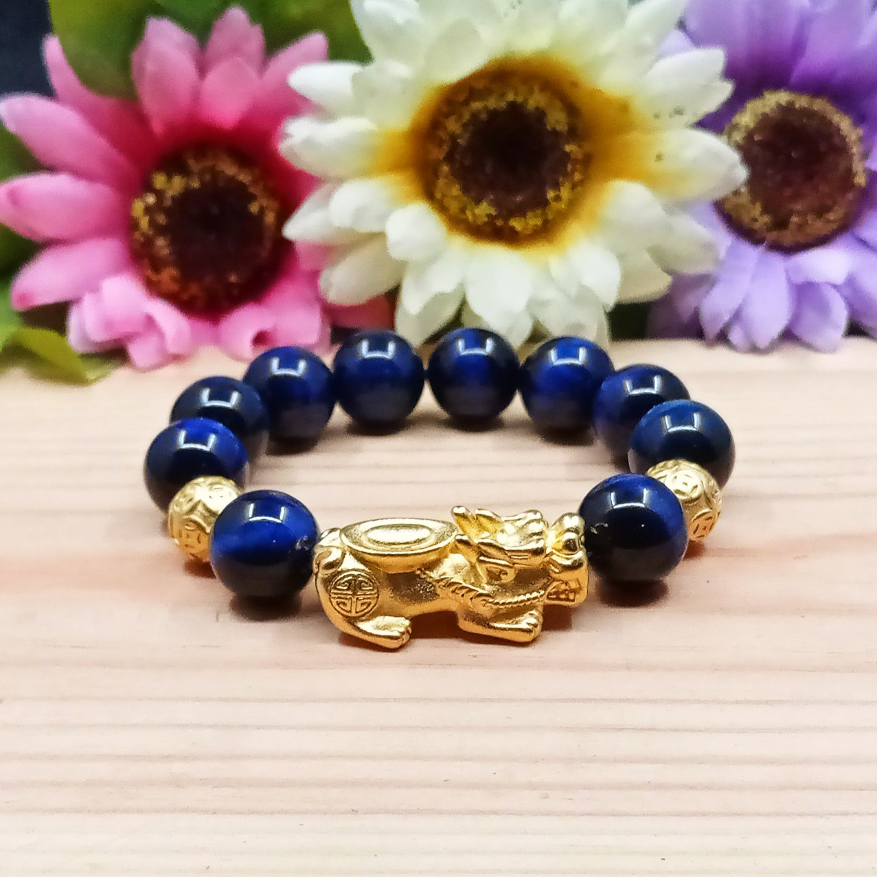 Blue Tiger Eye Fengshui Pixui Bracelet