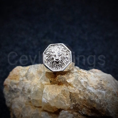 Lion Men's Silver Ring