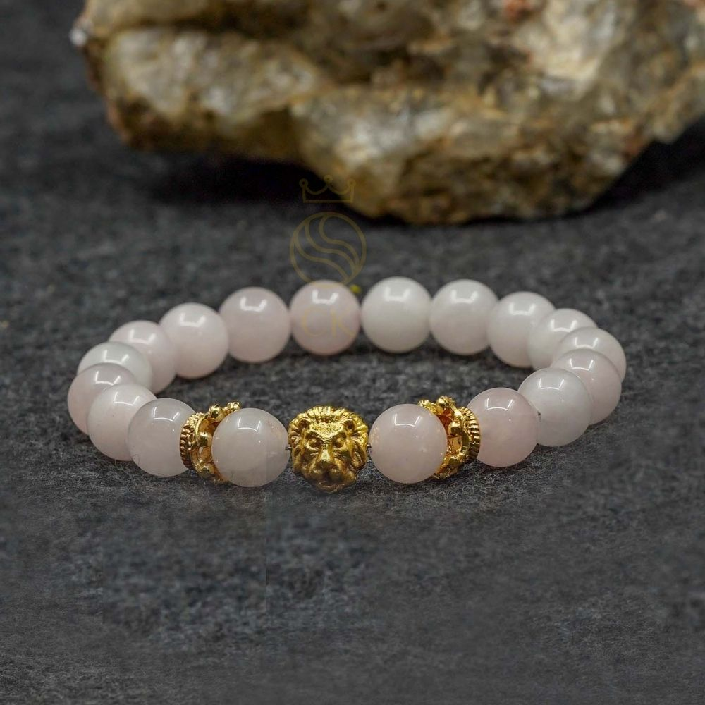 Rose Quartz Lion Bracelet