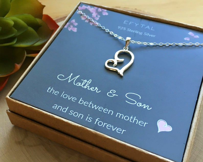 Heart Necklace for Loving Mother