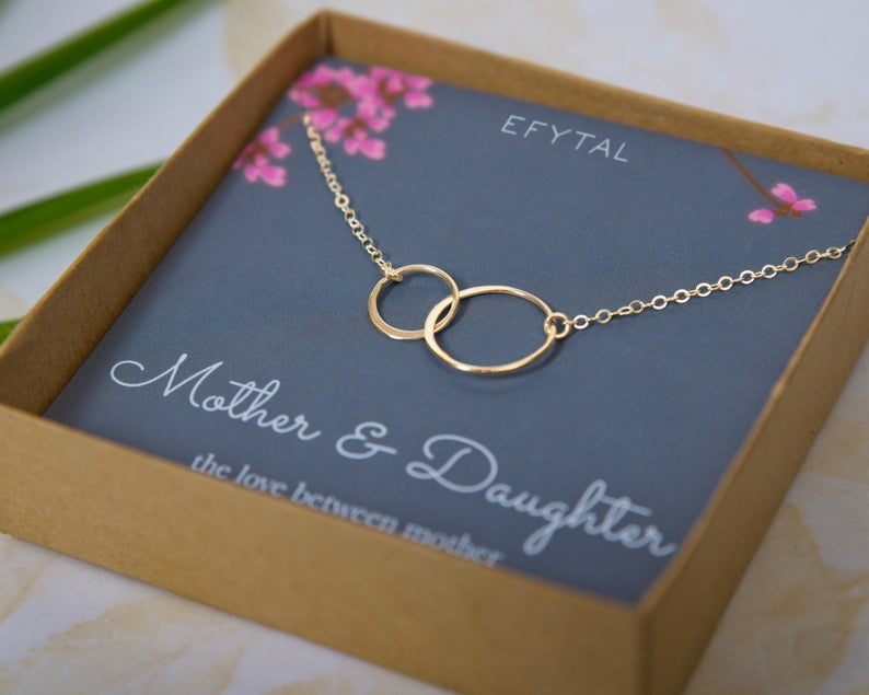 Infinity Circles Necklace for Mother & Daughter