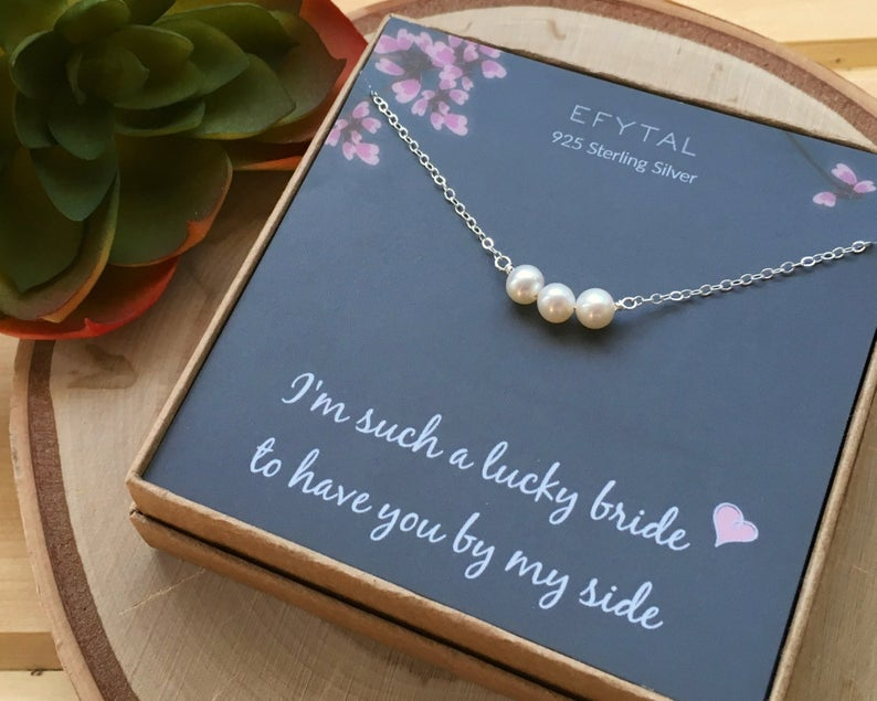 Pearl Necklace for Bridesmaid