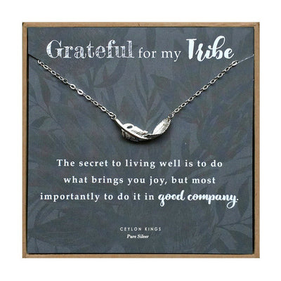 Feather Necklace Best friend Gift