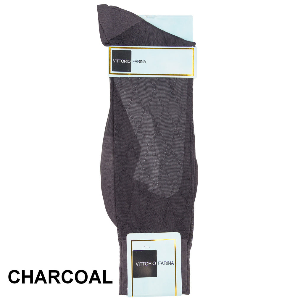 Charcoal Printed Ankle Socks