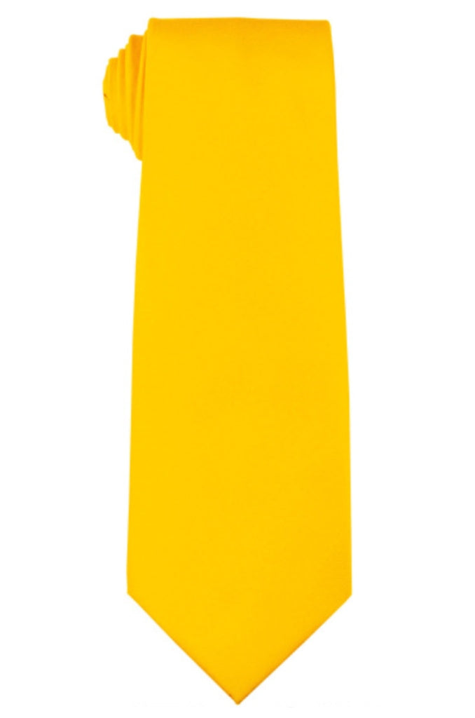 YELLOW NECKTIE AND HANKY SET
