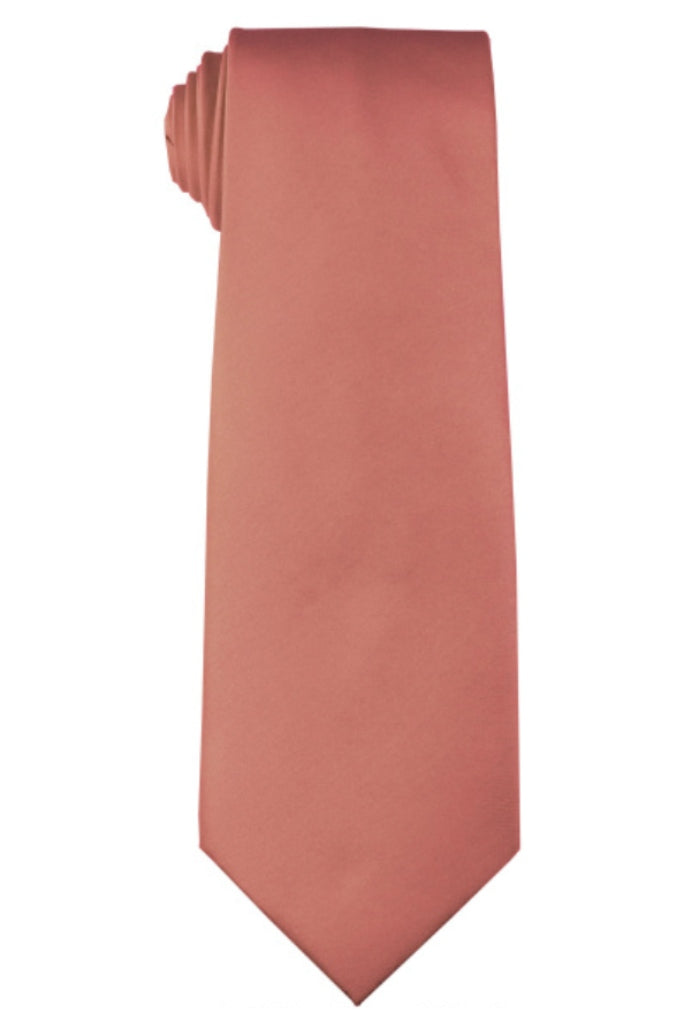 DUSTY ROSE NECKTIE AND HANKY