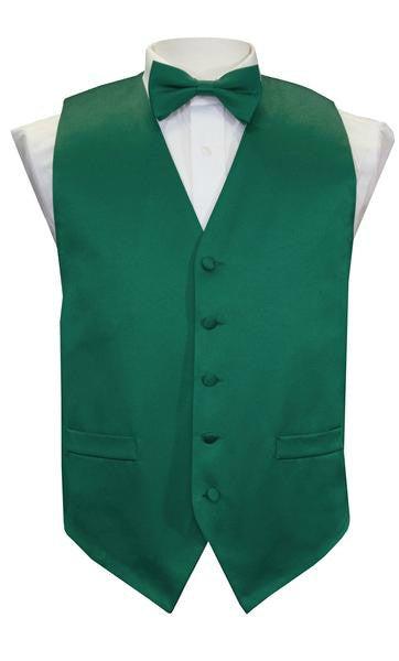 Hunter Green Vest / Tie / Handkerchief Set