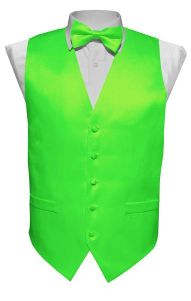 Lime Vest / Tie / Handkerchief Set