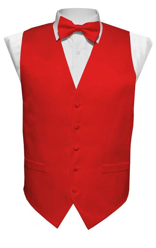 Red Vest / Tie / Handkerchief Set