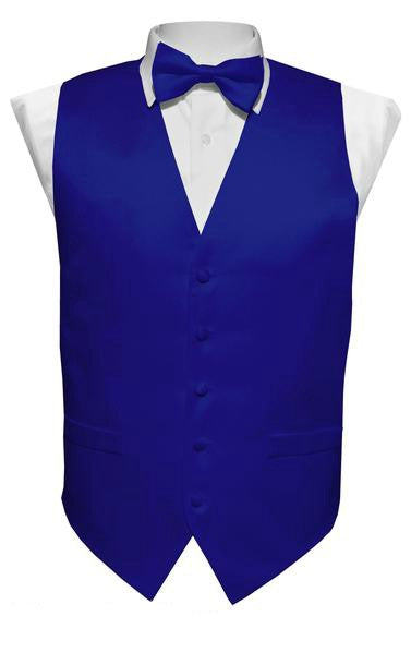 Royal Blue Vest / Tie / Handkerchief Set