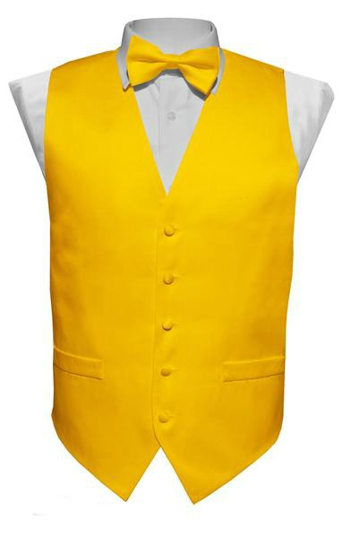 Yellow Vest / Tie / Handkerchief Set