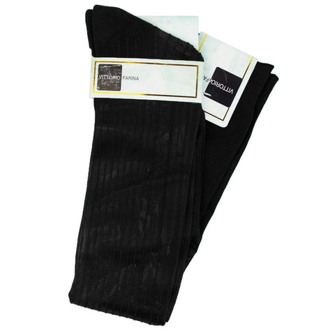 Black Over The Calf Sock