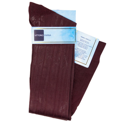 Burgundy Over The Calf Sock