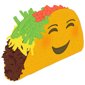 Smiling taco sticker