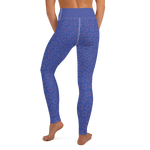 Texas Yoga Pants Blue Pink Cheetah
