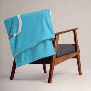 Shadow of Texas Throw Blanket - TX Sky Blue