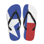 Texas flag flip flops from above