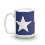 big Texas flag mug showing handle