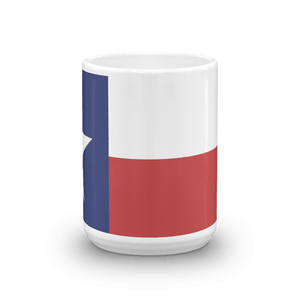 big coffee mug with Texas flag print