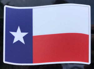 Texas flag window sticker