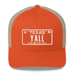 Texas YALL on orange hat