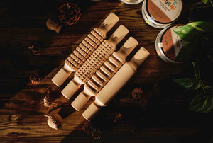 Wooden Dough Rolling Pins - set of 4
