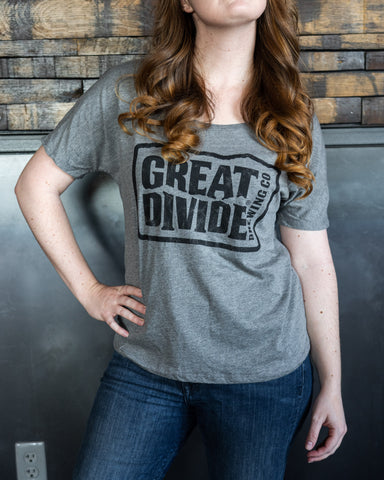 Ladies Great Divide slouchy tee
