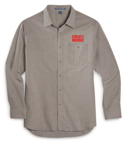Mens Chambray Long Sleeved Shirt