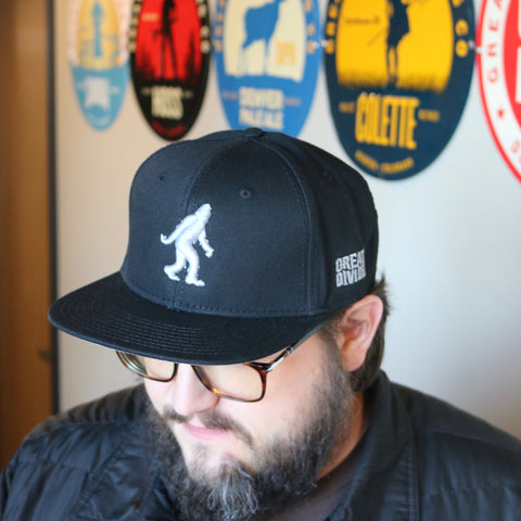 Yeti Platinum on Black Snapback Hat