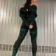 3 Pieces Long Sleeve Zippers Fitness Suit