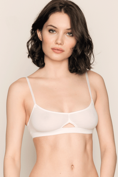 Feather Weight Rib Triangle Bralette