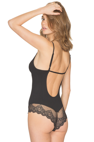 So Fine with Lace Low Back Bodysuit