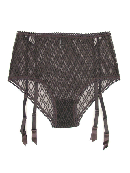 Baklava High Waist Garter Brief