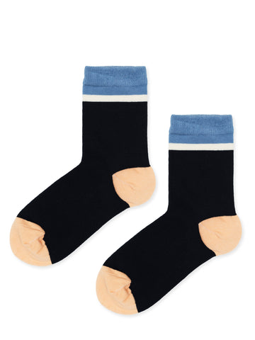 Top Stripe Crew Socks